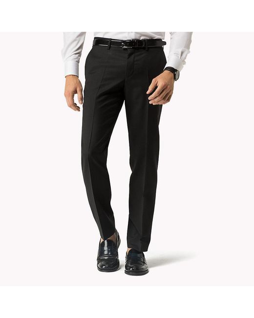 Tommy Hilfiger - Black Suit Separate Fitted Trousers for Men - Lyst