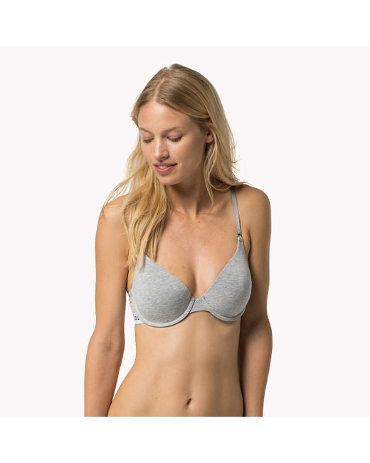 Tommy Hilfiger | Gray Cotton T-shirt Bra | Lyst