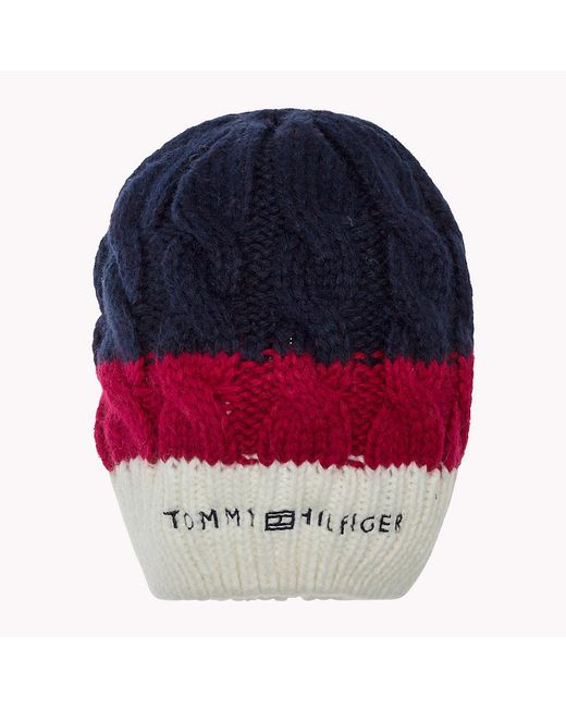 Tommy Hilfiger | Blue Wool/cashmere Blend Beanie | Lyst