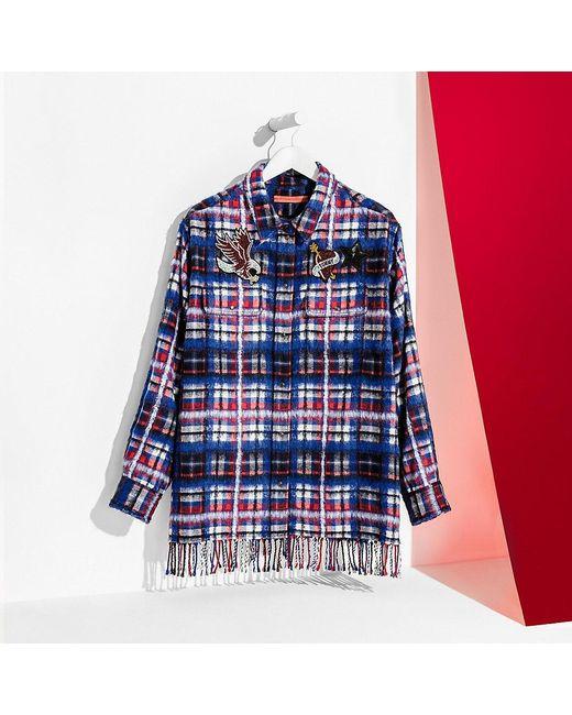 Tommy Hilfiger | Blue Tommy Tartan Boyfriend Shirt | Lyst