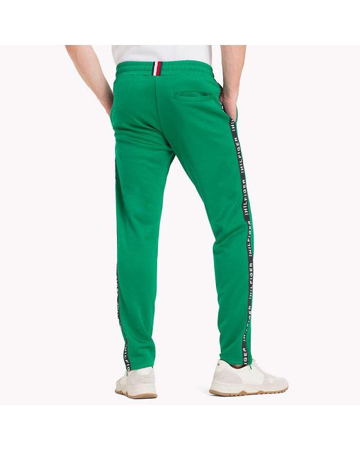 4c986400f47 Tommy Hilfiger Sporty Side Tape Joggers in Green for Men - Save 30 ...