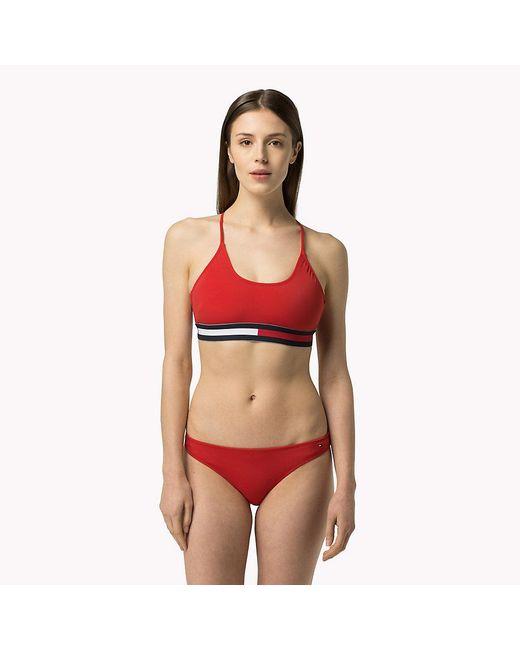 Tommy Hilfiger | Red Athletic Bikini | Lyst