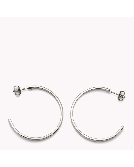 Tommy Hilfiger | Metallic Hoop Earrings | Lyst