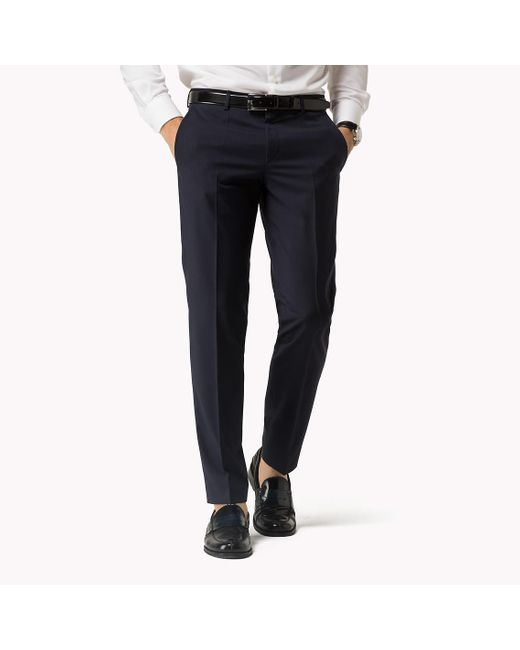 Tommy Hilfiger | Blue Suit Separate Slim Fit Trousers for Men | Lyst