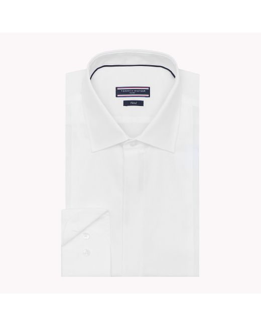 Tommy Hilfiger | White Cotton Fitted Shirt for Men | Lyst