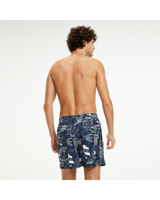 1f74284f6b83cf ... Tommy Hilfiger - White Sailing Print Swim Shorts for Men - Lyst ...