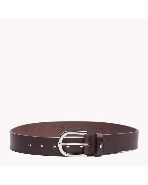 Tommy Hilfiger - Brown Danny Leather Belt - Lyst