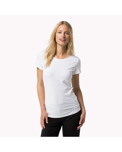 Tommy Hilfiger - White Iconic T-shirt - Lyst