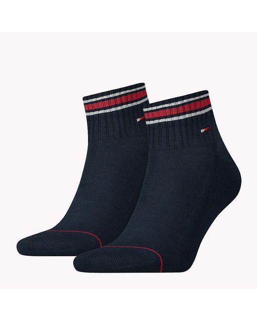 Tommy Hilfiger - Blue 2 Pack Sneaker Sports Socks for Men - Lyst