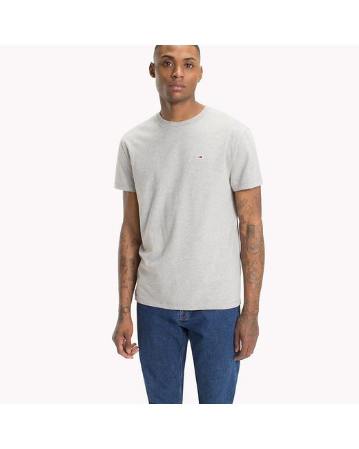 c0ad0f13 Tommy Hilfiger - Gray Tommy Classics Organic Cotton T-shirt for Men - Lyst  ...