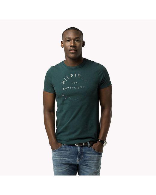 Tommy Hilfiger   Green Regular Fit T-shirt for Men   Lyst