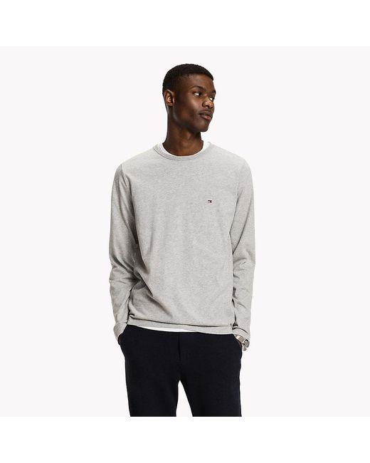 Tommy Hilfiger   Gray Long Sleeve Regular Fit Tee for Men   Lyst