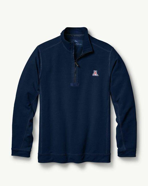 Tommy Bahama - Blue Big & Tall Collegiate Ben & Terry Coast Half-zip Sweatshirt for Men - Lyst