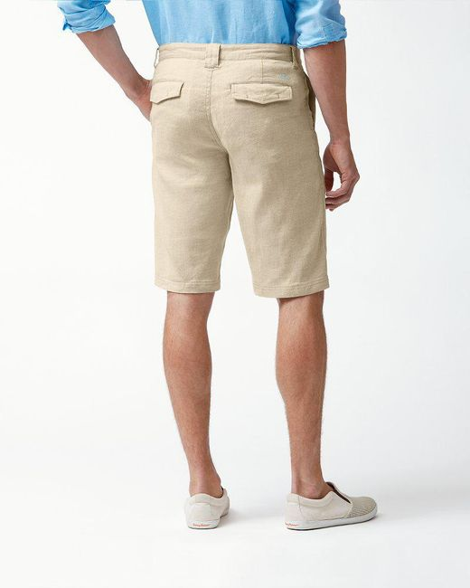 bc9d110273 ... Tommy Bahama - Natural Beach Linen 12-inch Shorts for Men - Lyst ...
