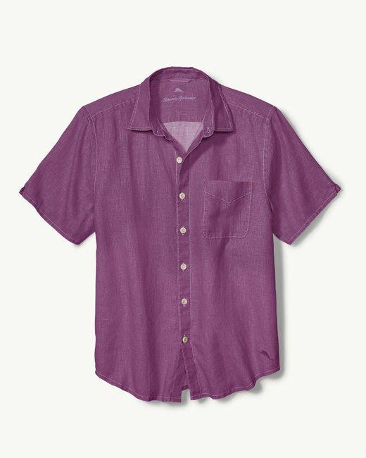 Tommy Bahama - Purple Sea Glass Breezer Linen Camp Shirt for Men - Lyst