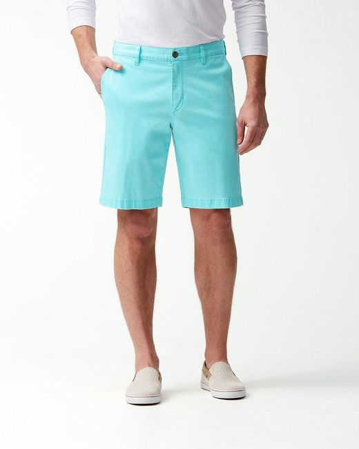 Tommy Bahama Blue Boracay 10-inch Chino Shorts for men