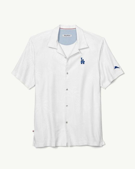 197f705a ... Tommy Bahama - White Mlb® Dodgers® Bases Loaded Camp Shirt for Men -  Lyst