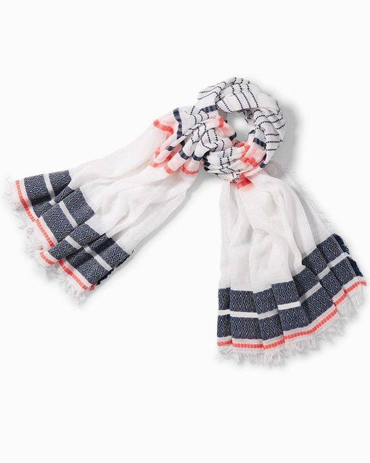 Tommy Bahama Multicolor Airy Stripe Jacquard Scarf