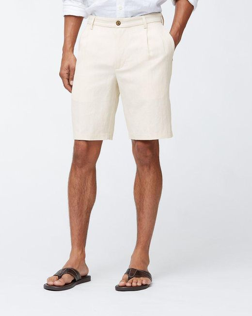 Tommy Bahama - Natural Big & Tall Monterey Pleated Shorts for Men - Lyst