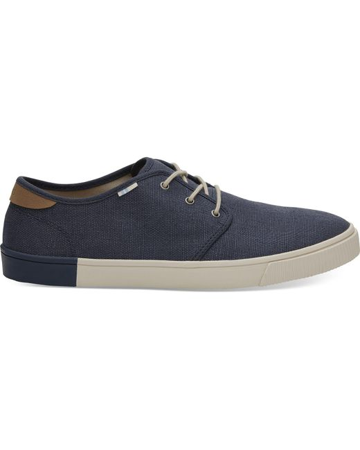 TOMS - Blue Oceana Heritage Canvas Men's Carlo Sneakers for Men - Lyst