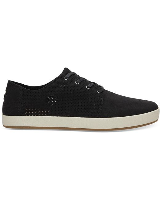 TOMS - Black Perforated Synthetic Suede Men's Payton Sneakers for Men - Lyst