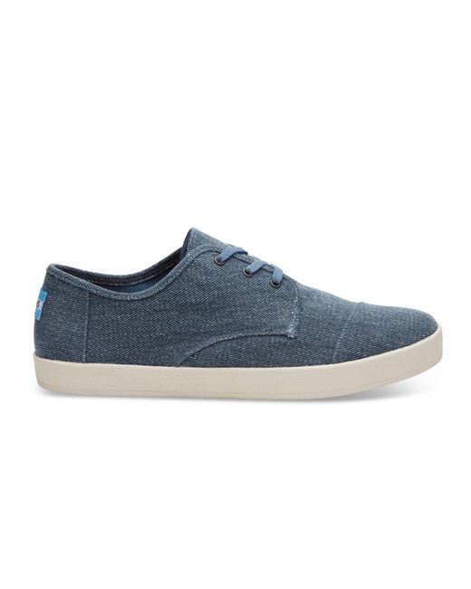 TOMS | Slate Blue Coated Twill Men's Paseo Sneakers for Men | Lyst