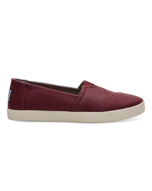 TOMS - Multicolor Black Cherry Coated Canvas Women's Avalon Slip-ons - Lyst