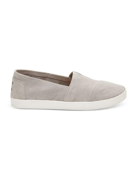 TOMS | Gray Drizzle Grey Suede Women's Avalon Slip-ons | Lyst