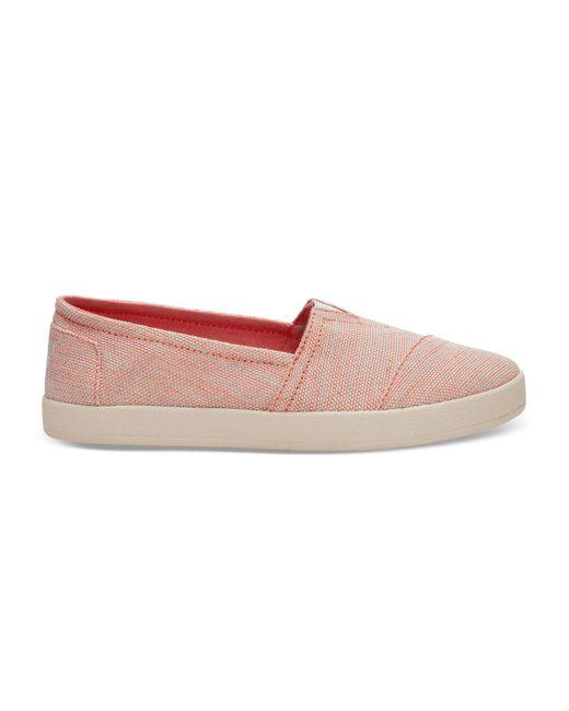 TOMS | Pink Tangerine Yarn Dye Women's Avalon Slip-on | Lyst