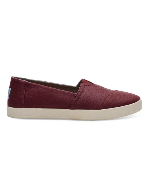 TOMS | Multicolor Black Cherry Coated Canvas Women's Avalon Slip-ons | Lyst