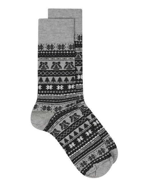 Topman | Black And Gray Christmas Fair Isle Socks for Men | Lyst