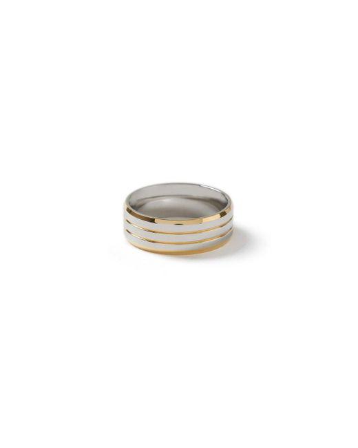 Topman - Metallic Ilver Ridged Ring for Men - Lyst