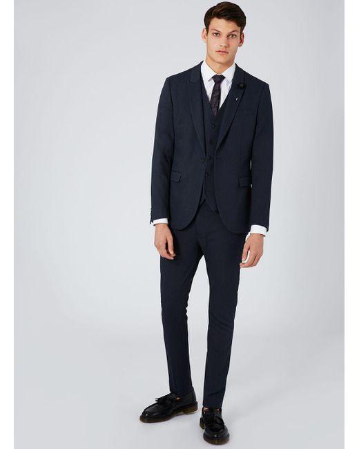 Topman Navy Ultra Skinny Suit Jacket in Blue for Men | Lyst