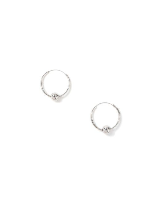 Topman - Metallic Ilver Ball Hoop Earring for Men - Lyst
