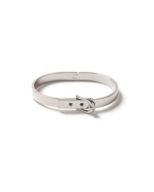 Topman | Metallic Silver Buckle Bangle Bracelet* for Men | Lyst