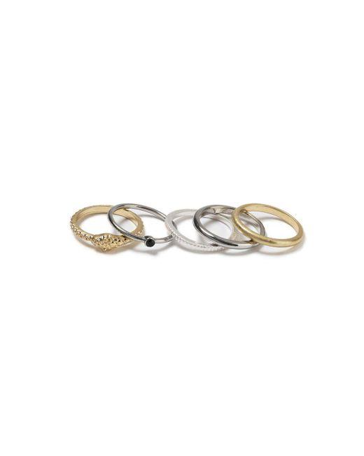 Topman - Gray Multi Pack Ring for Men - Lyst