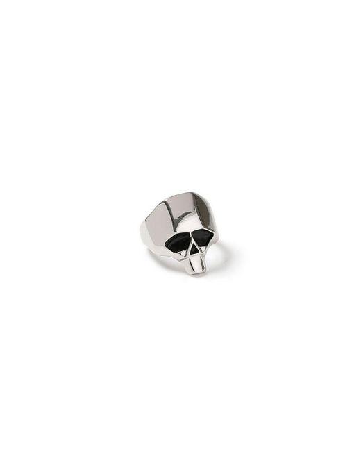 Topman | Metallic Silver Skull Ring for Men | Lyst