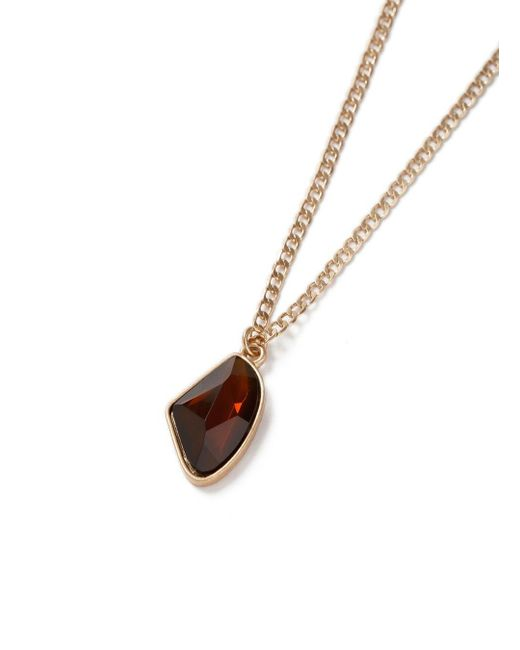 Topman | Brown Gold Stone Necklace for Men | Lyst