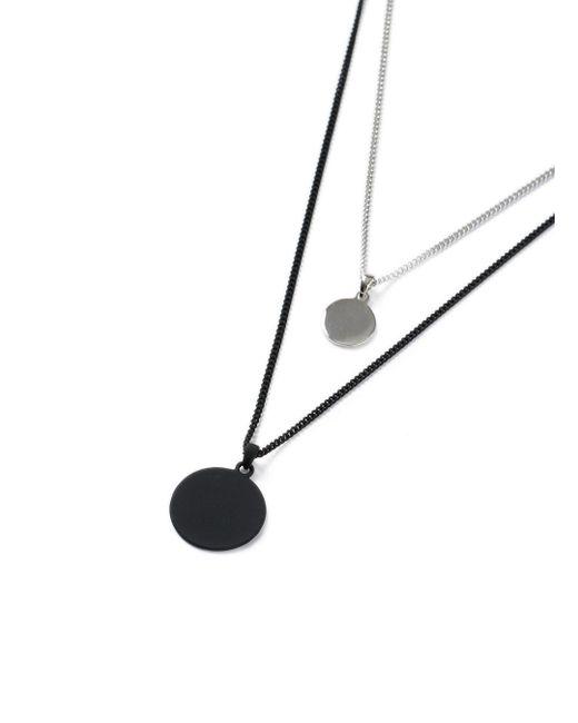 Topman   Metallic Black Multirow Necklace for Men   Lyst