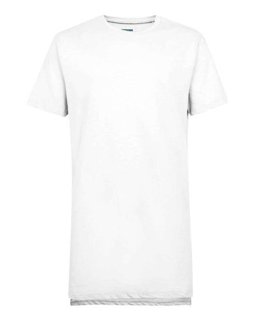 TOPMAN | White Step Hem Longline T-shirt for Men | Lyst