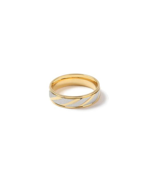 Topman - Metallic Gold Etched Ring for Men - Lyst