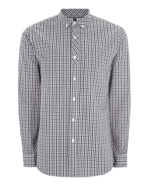 Topman | Multicolor Gingham Half Placket Shirt for Men | Lyst