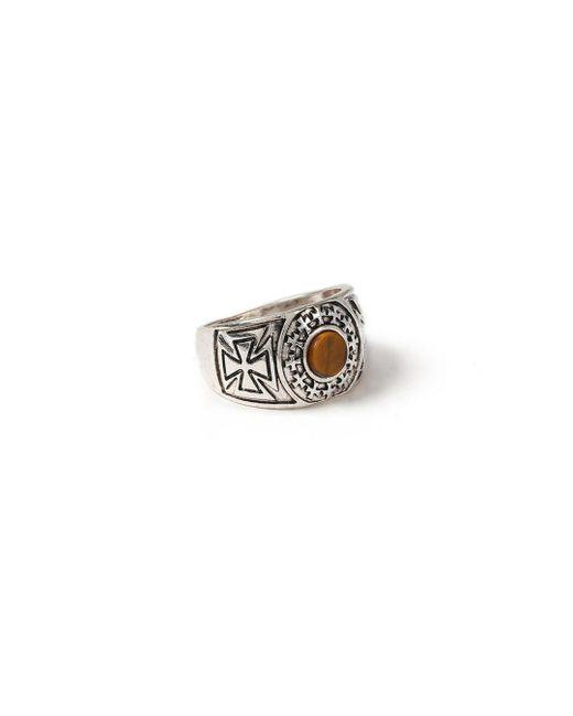 Topman - Brown Tiger Stone Ring for Men - Lyst