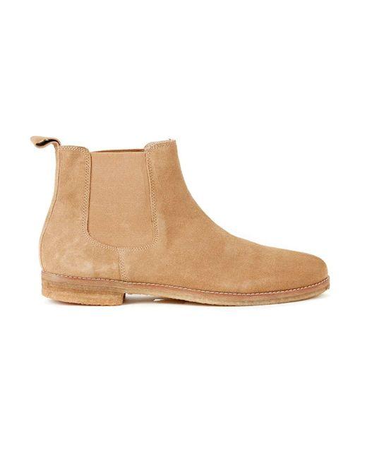 topman suede chelsea boots in brown lyst