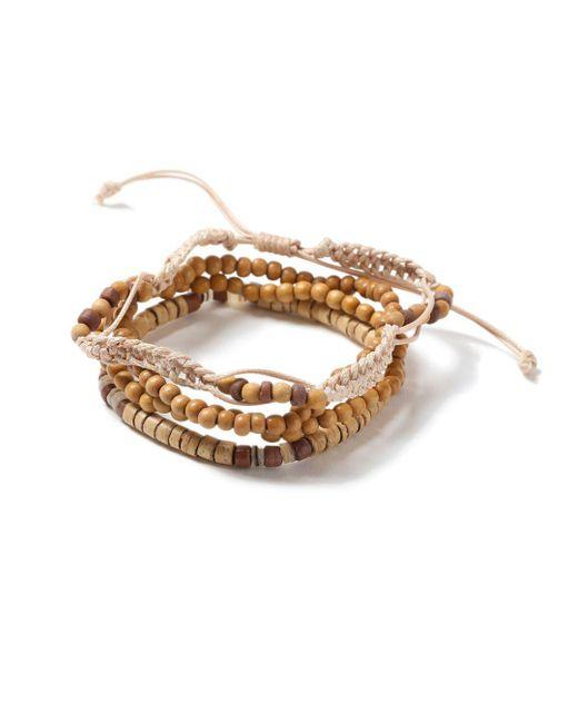 Topman - Brown Beaded Bracelet for Men - Lyst