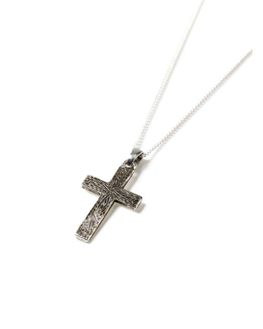 Topman - Metallic Ilver Cross Necklace for Men - Lyst