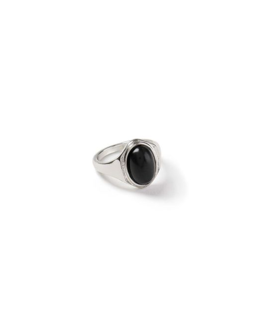Topman - Black Ilver Stone Ring for Men - Lyst