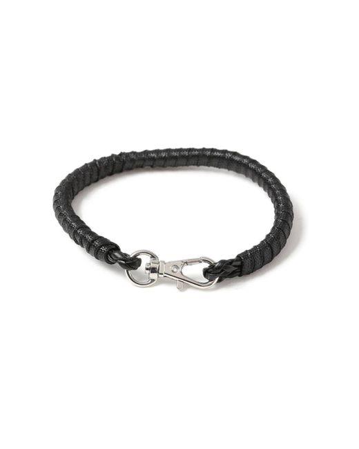 Topman - Black Wrap Bracelet for Men - Lyst