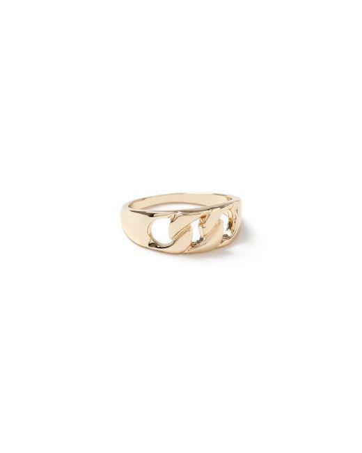 Topman - Metallic Gold Pinky Ring for Men - Lyst