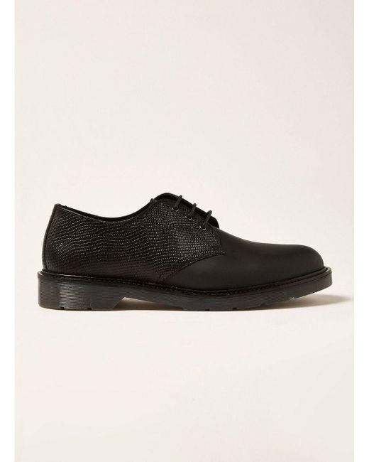 Topman - Black Leather Slater Derby Shoe for Men - Lyst